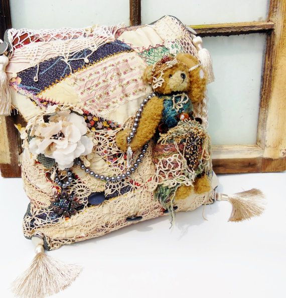 Simply Shabby Chic Bohemian Patchwork Floral Quilted Std