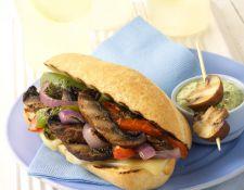 Meatless Mushroom Philly Cheesesteak Portabella Style