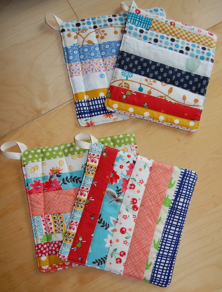 scrappy potholders for teacher gifts
