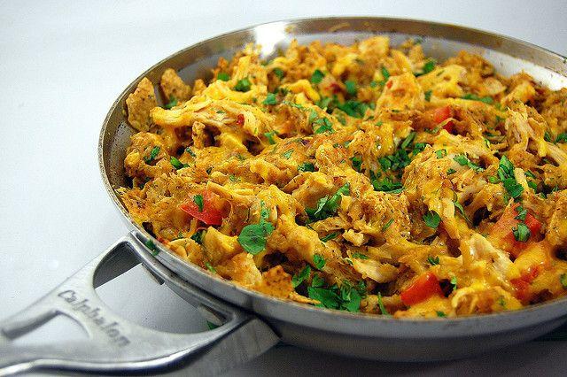 Chicken Tortilla Chip Casserole made with fresh ingredients!