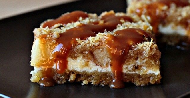 Caramel Apple Cheesecake Cookie Bars Recipe Desserts with all-purpose ...