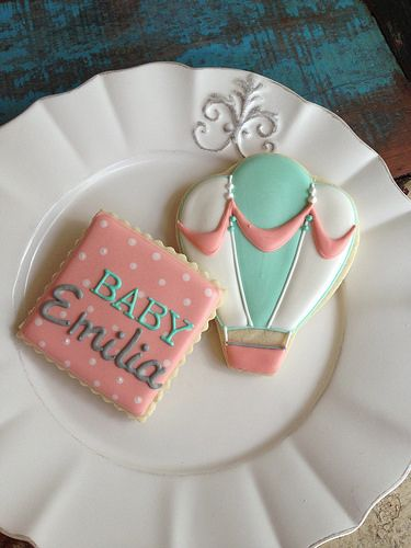girl baby shower cookies lullaby shower pinterest