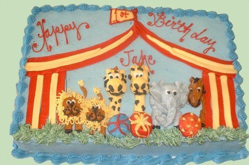 how to make a carnival tent cake