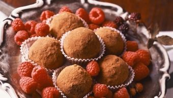 Raspberry Chocolate Truffles