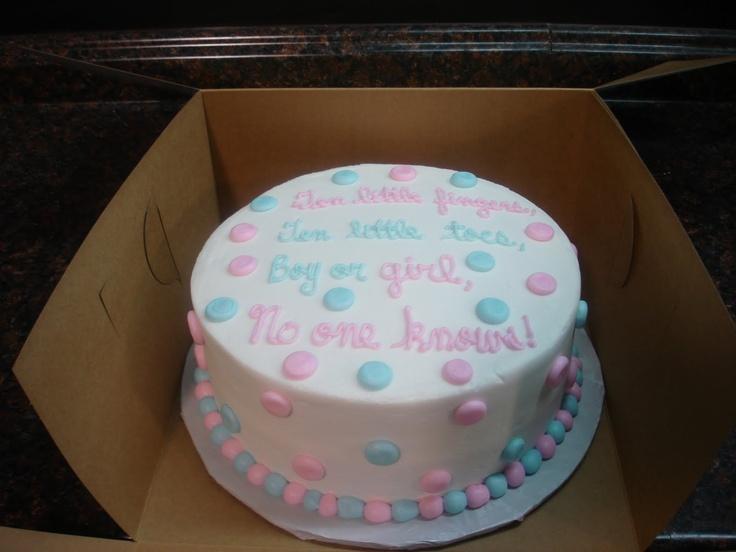 Gender reveal cake idea