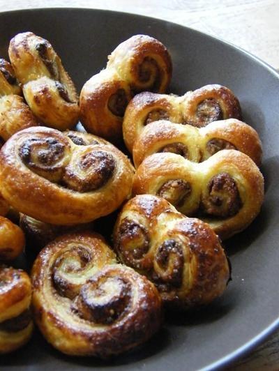 Image of Small palm recipes chocolate / hazelnut (pastries)