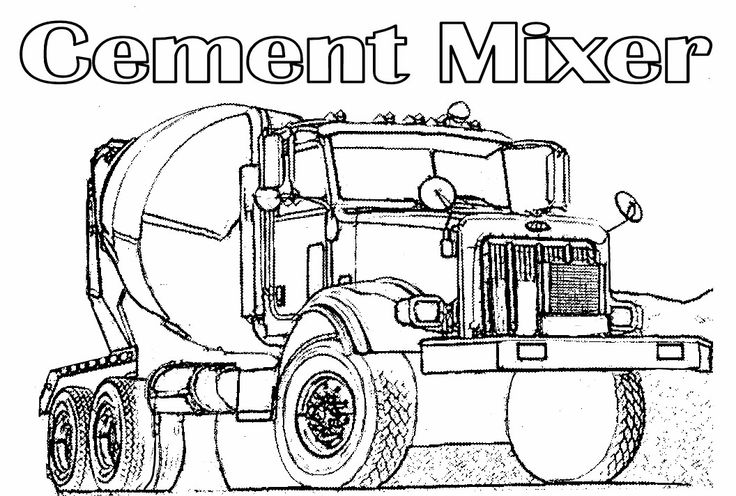 Cement Truck Coloring Pages Cement Truck Coloring Pages