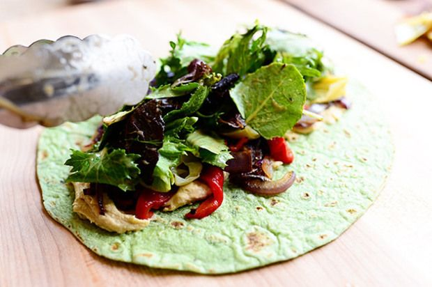 The Pioneer Woman's Heavenly Hummus Wraps (so good!)