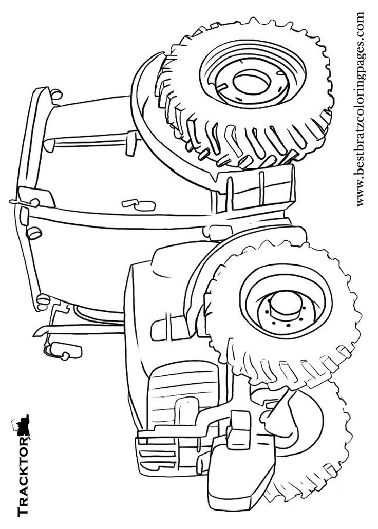 printable john deere tractor coloring pages