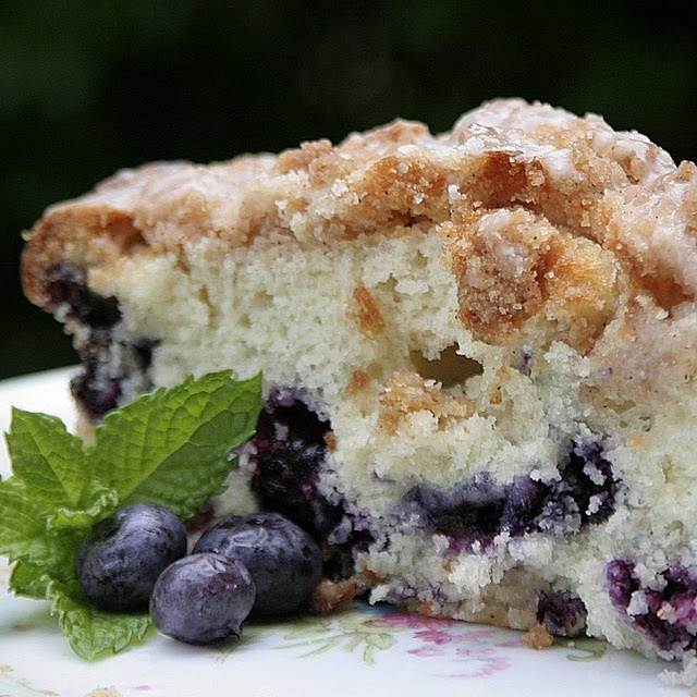 blueberry baked french toast with amaretti crumble and blueberry ...