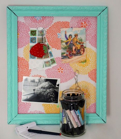 An Easy Way To Make Your Own Pinboard My Dream Home Pinterest