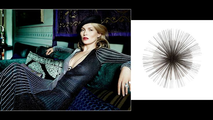 How to Decorate Your Home Like Kate Moss // Wall sculpture