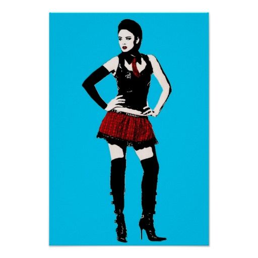 Goth School Girl Posters