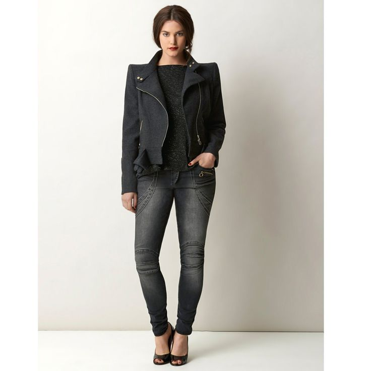 William Carnimolla Ali Tate mode grandes tailles plus-size fashion biker jacket biker jeans