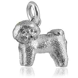 Sterling Silver Bichon Frise Dog Charm. #jewelry