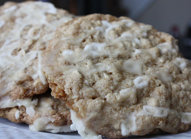Iced Oatmeal Applesauce Cookies | Recipe