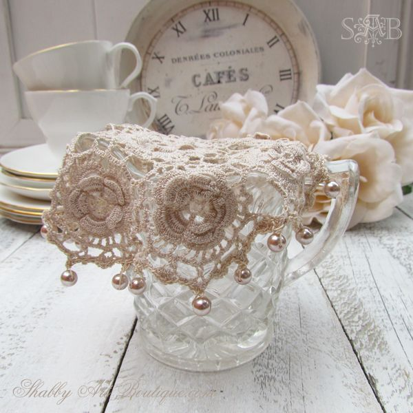 Crochet Patterns Jug Covers : Shabby Art Boutique - milk jug cover HOUSE INSIDE DINING ROOM Pin ...