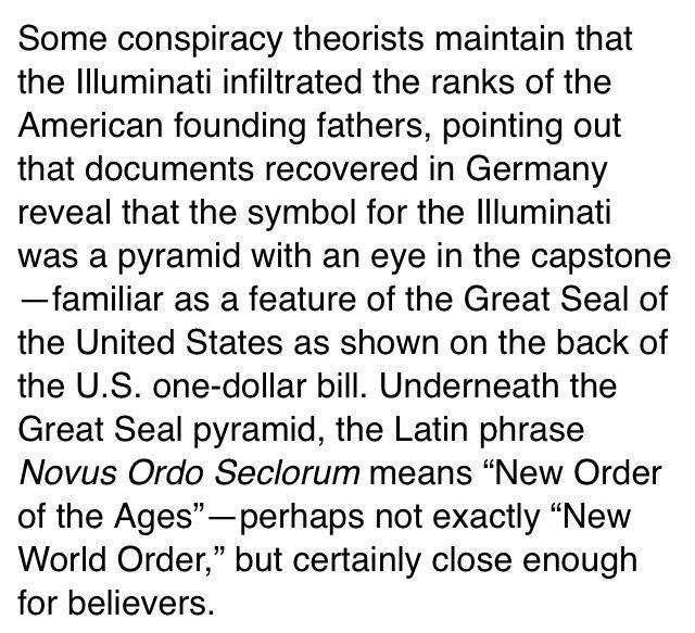 On a conspiracy theory app i m so into the illuminati right now