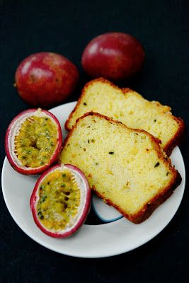 Passion fruit and coconut loaf cake - moist