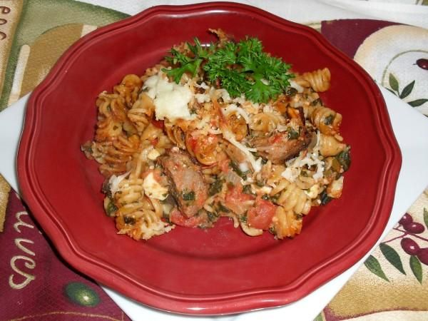 Baked Pasta with Chicken Sausage   healthy recipes   Pinterest