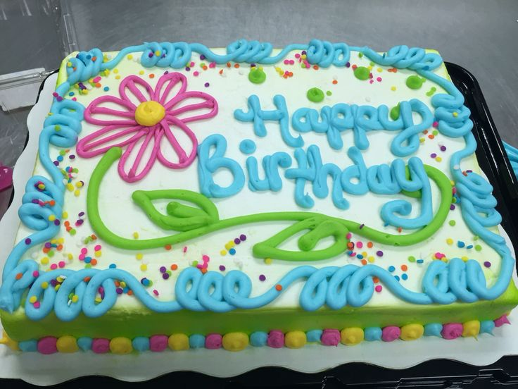 A classic floral sheet cake for a birthday celebration Cake
