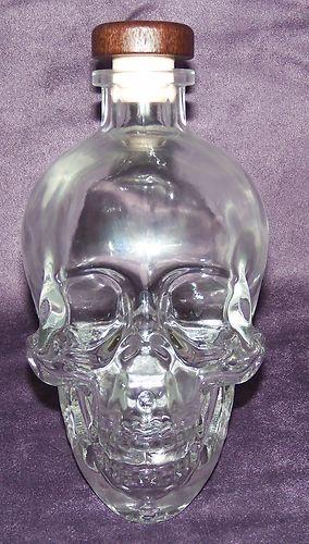 Crystal Skull Head Vodka 1 75 Liter Empty Bottle   eBay