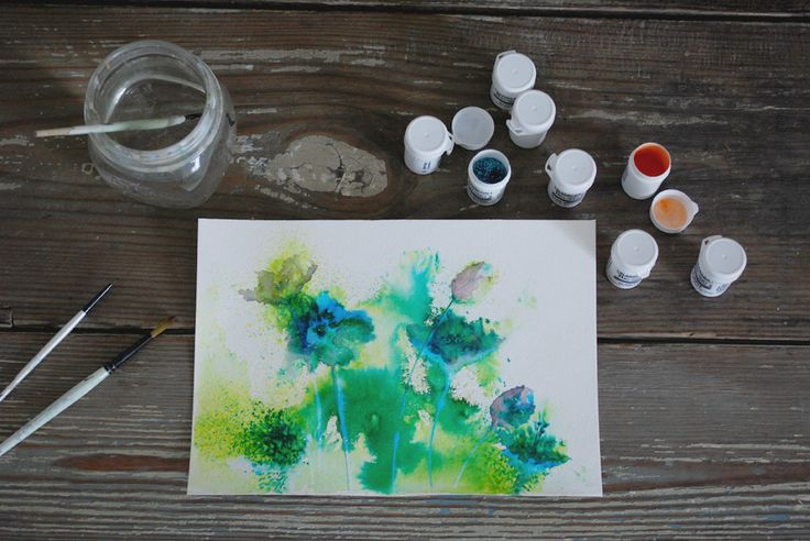 Brusho painting - Melissa
