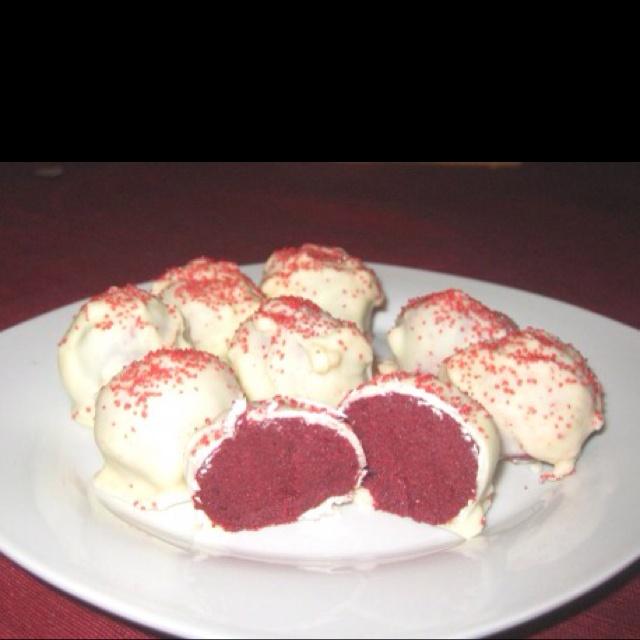 Red Velvet cake balls | FOOD,FOOD, and MORE FOOD | Pinterest