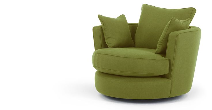 Leon Swivel Loveseat, Basil Green