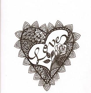 zentangle valentine hearts