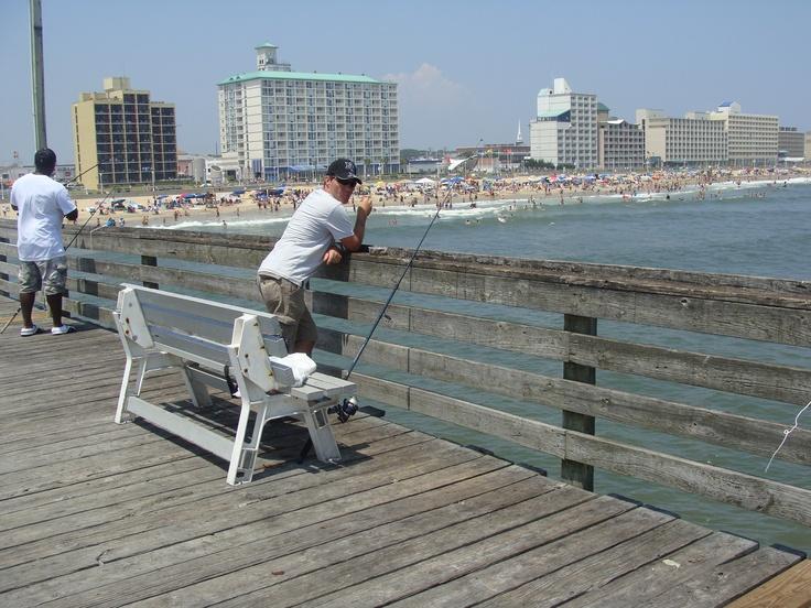Virginia beach 14th street fishing pier virginia beach for Fishing spots in virginia beach