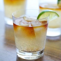 Dark and Stormy: a spicy and refreshing cocktail classic.