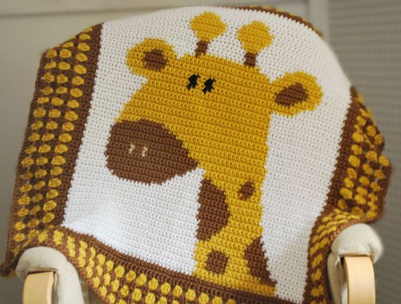 Crochet Pattern Giraffe Blanket : Pinterest