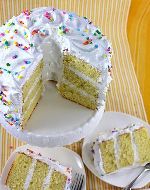 ... Lemon Chiffon Cake - A light non-butter based cake with meringue icing