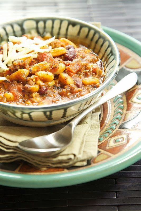 Slow Cooker Italian Chili from Apron Strings; this sound delicious ...