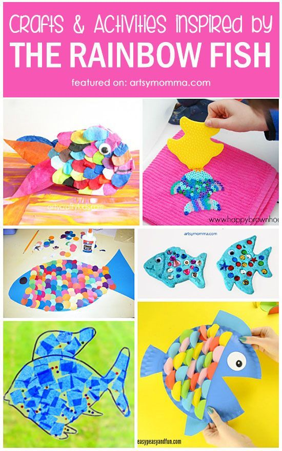 A Simple Rainbow Fish Craft for Kids (with Free Template)