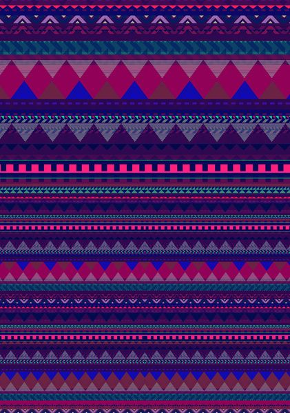 Aztec Knitting Pattern : KNITTED AZTEC PATTERN Art Print by Vasare Nar