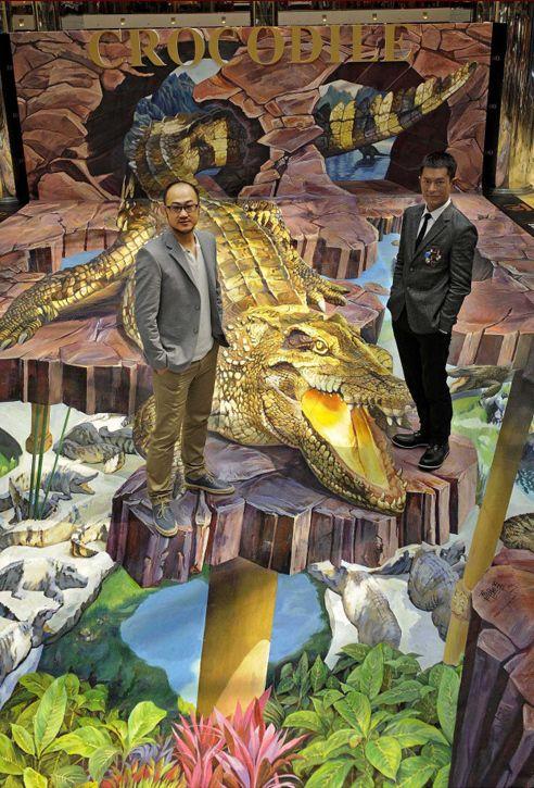 Qi xinghua mural 3d street art sidewalk art pinterest for Mural 3d art