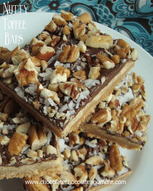 Nutty Toffee Bars | Recipe