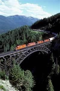 Beautiful Train Track, scenic mountain