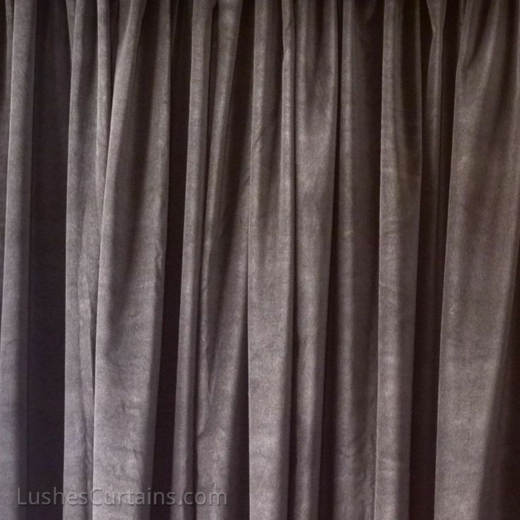 Brown 100% Cotton Velvet Curtain Panel. | Lushes Curtains | Pinterest