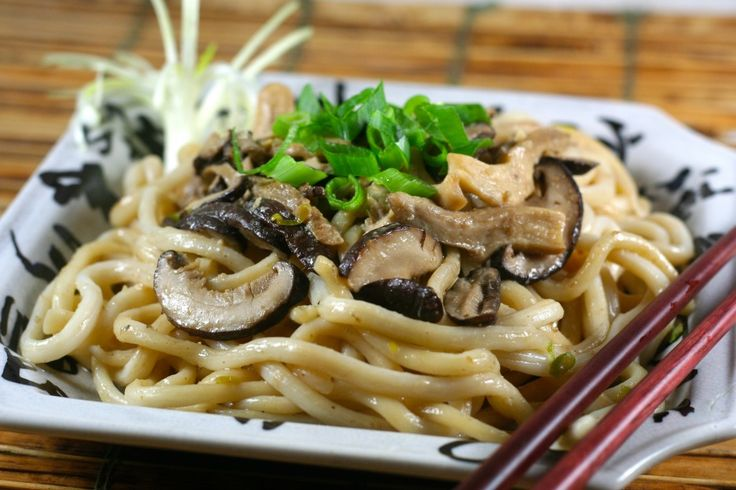 Udon Noodles and Wild Mushrooms with Miso Butter recipe. Yum!