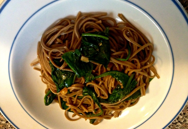 noodle soup with spinach and smoked trout soba noodle soup soba ...