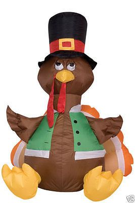 4 39 pilgrim turkey fall thanksgiving airblown inflatable for Airblown turkey decoration