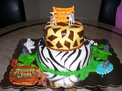 Animal Jam Cake By Jewels17 on CakeCentral.com