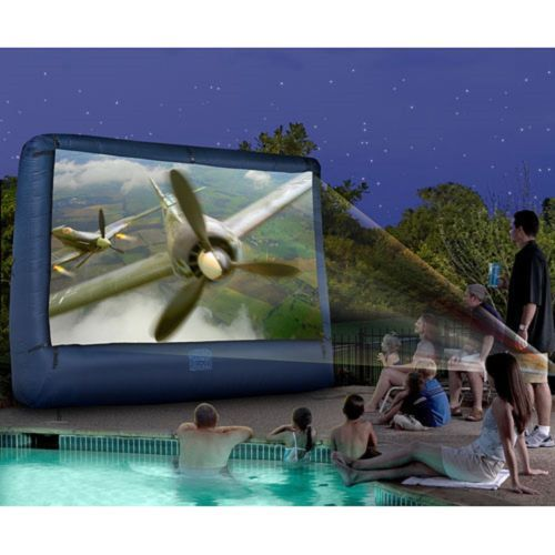 Backyard Sounds At Night :  cool An outdoor movie night by the pool sounds like a perfect night