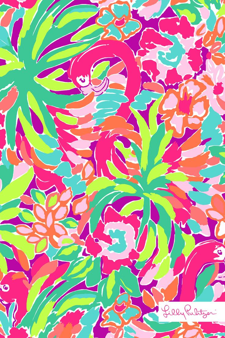 Lilly pulitzer lulu wallpaper for iphone patterns we - Lilly pulitzer iphone wallpaper ...