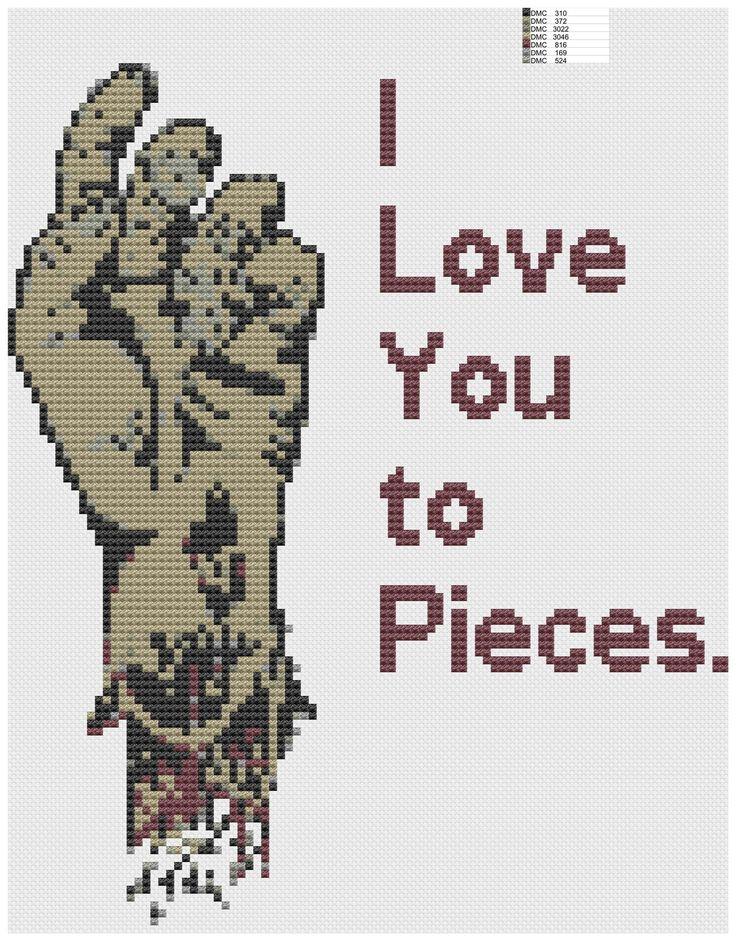 Zombie cross stitch pattern