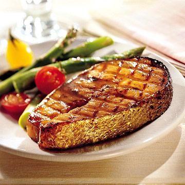 Honey-Bourbon Salmon Marinate the fish in bourbon, brown sugar, honey ...