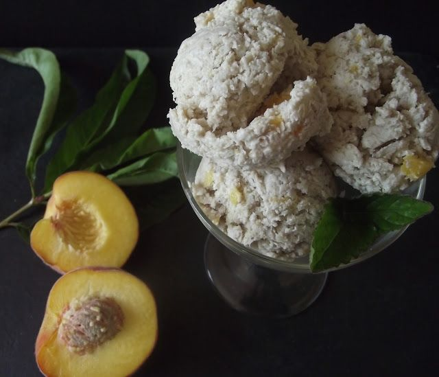 Sugar free and vegan Peach Ice Cream | Kitchen Goodies - Wholehearted ...